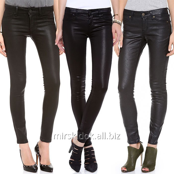 Buy Black brenovy leather jeans for women of LAURA SCOTT Germany C, M, L, growth to 165