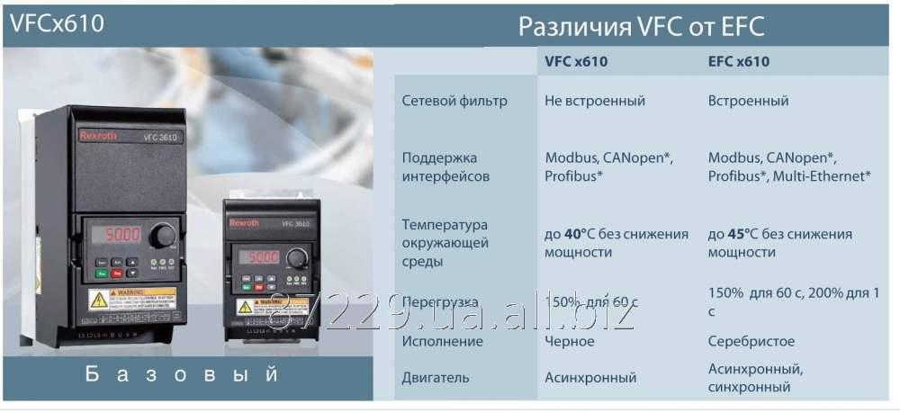 Преобразователь частоты базовый Rexroth Bosch Group  VFC х610