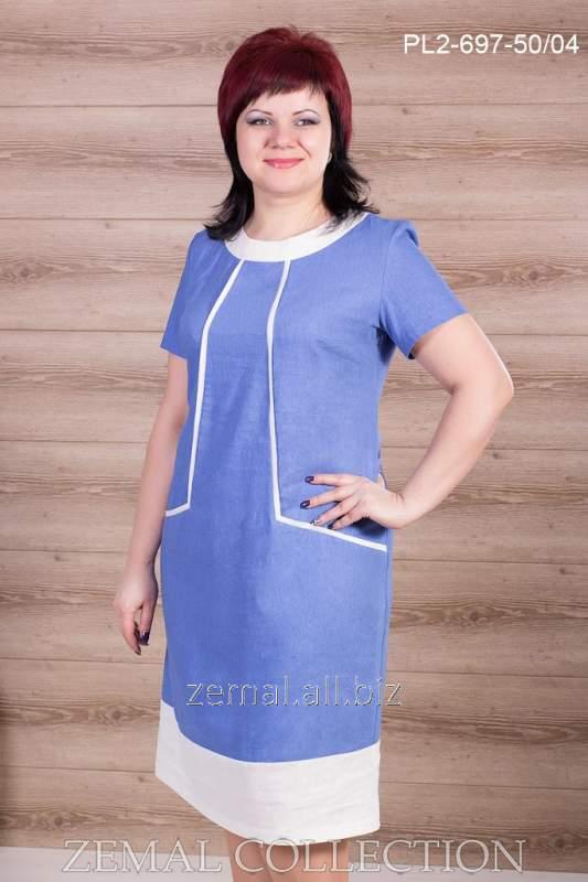 Платье льняное PL2-697
