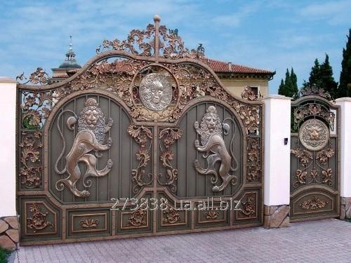 ворота на забор фото