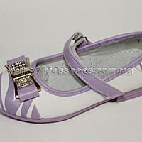 Buy Shoes for the girl white with lilac the 27th size