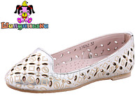 Buy Shoes (flats) for the girl light gray with perforation the Fairy tale