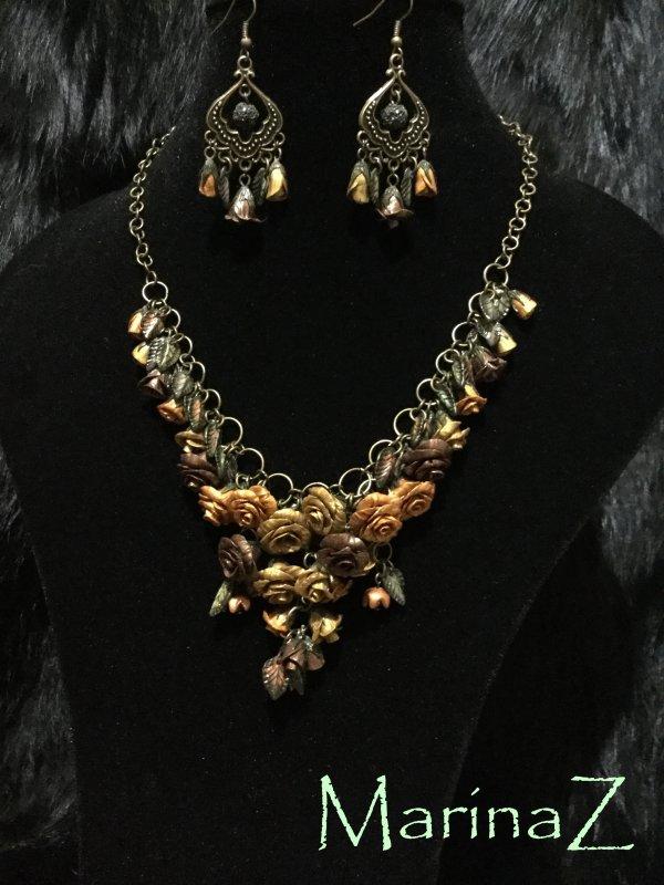 "Buy Set ""Rose in bronze"