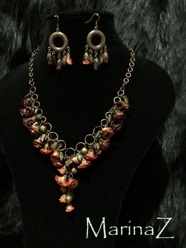 """Buy Set """"Rose in copper"""