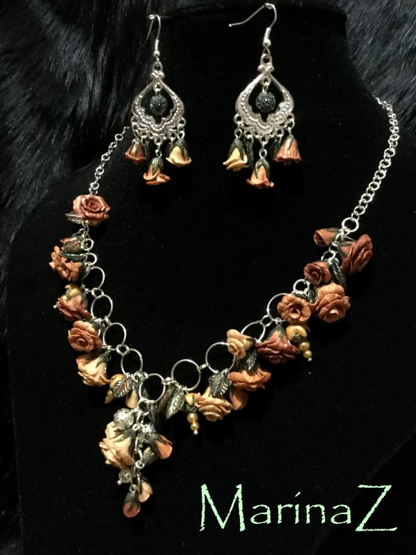 "Buy Set ""Rose in silver"