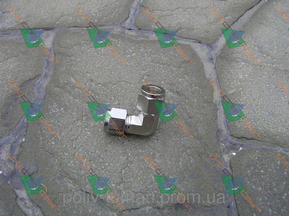 Купить L-образный фитинг для трубы никелированная медь 3/8, для системы туманообразования Tecnocooling, Italy