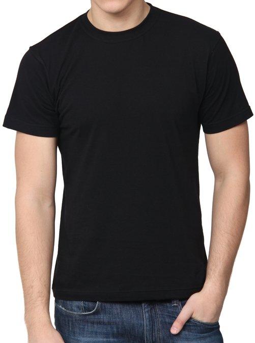 Купить Футболка мужская К-01001, чёрная, кулир, производитель Черноостровская трикотажная фабрика (Bifabric)