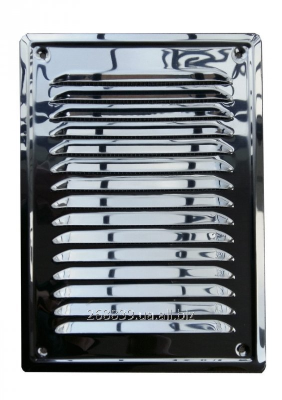 Buy Ventilating grate from a stainless steel with a mosquito grid 17kh24sm.