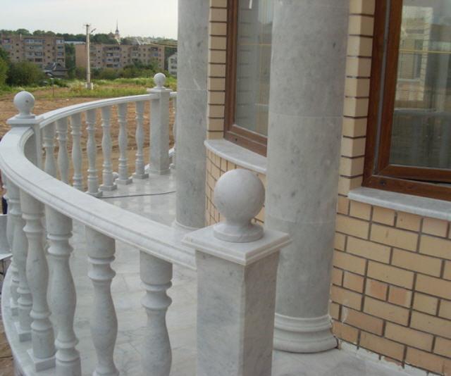Купить Перила балконные гранитные, Перила для балкона из гранита