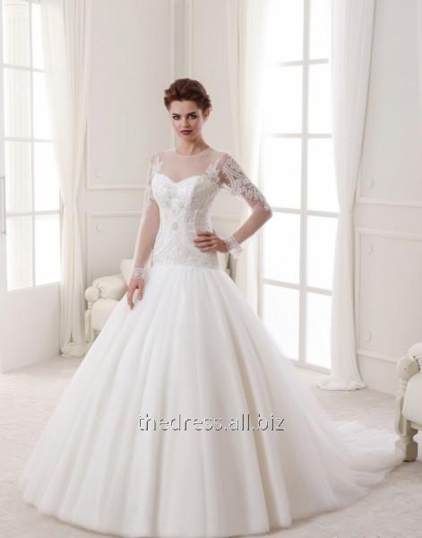 Купить Свадебное платье с пышной юбкой и заниженной талией, код: 316