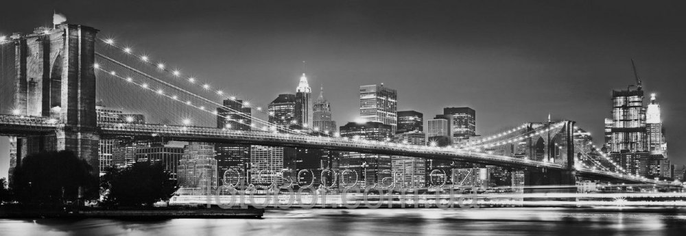 """Buy Photowall-paper of """"Brooklyn Bridge"""" 127х368 4NW-320 2000000404578"""