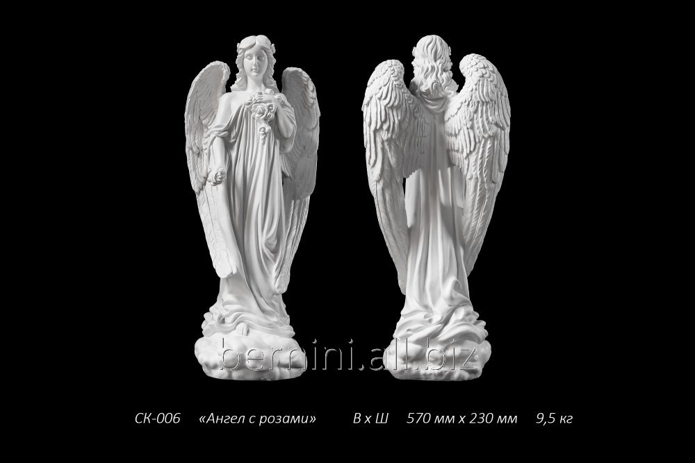 "Buy Sculpture ""Angel with roses"