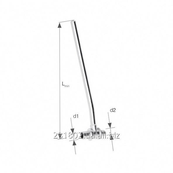 Купить Тройник латунный KAN-therm Push с трубкой Cu Ø15, никелированный, Lmin = 300 мм, редукционный Ø14×2/Ø12×2 прав. Код 9013,47