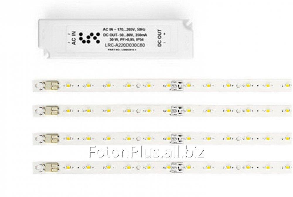 Светодиодный комплект для переоборудования светильника - 30Вт (4*24LED+БП).