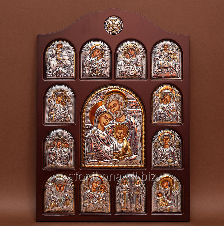 Buy Icon of an arch form In a wooden frame Iconostases the face registered St. Family