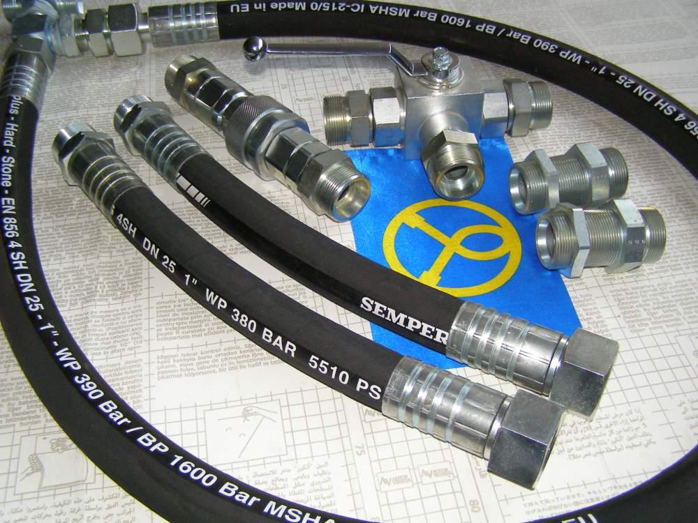 Hydraulic hoses of a high pressure for HITACHI, CAT, JCB, VOLVO, KOMATSU,  KATO, ATLAS, HUNDAI, CASE