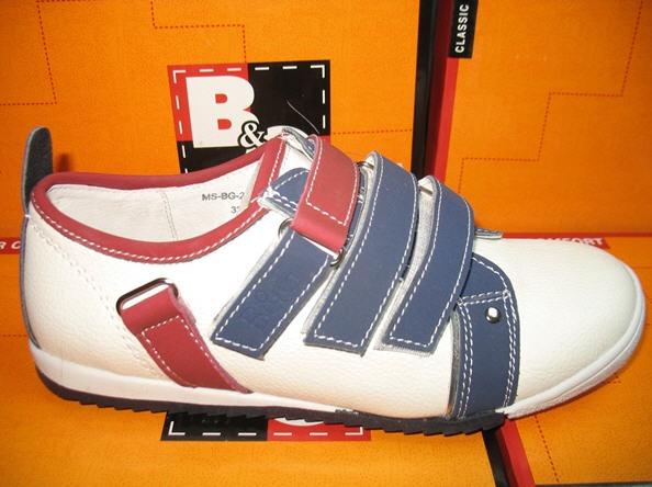 Купить Кроссовки белые с синим и красным MS-BG-221-06 размеры 33-38