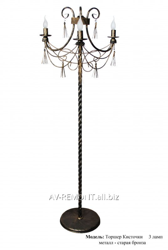 """Buy Floor lamp the metal, forged """"Brushes"""" 3 lamp"""