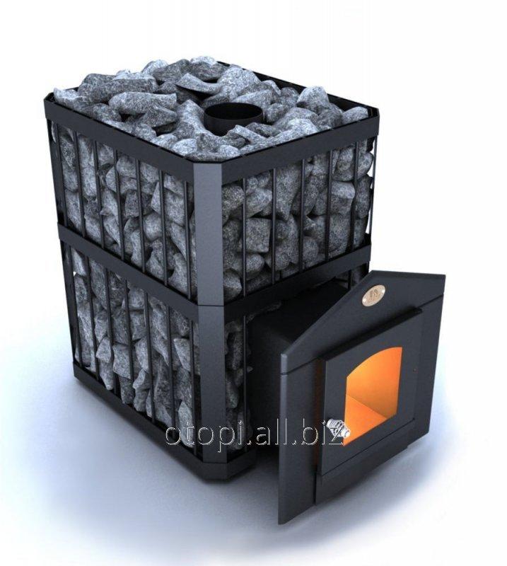 Дровяная печь для бани Пруток ПКС - 04 Дверца со стеклом