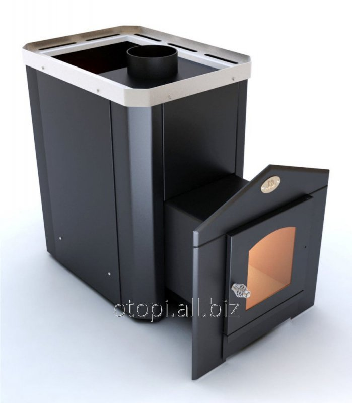 Дровяная печь для сауны с выносом Визуал ПКС 02 Дверца с термостойким стеклом 200х200 мм