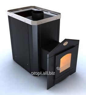 Печь для сауны c выносом  Визуал  ПКС 04 Дверца со стеклом 200х200 мм