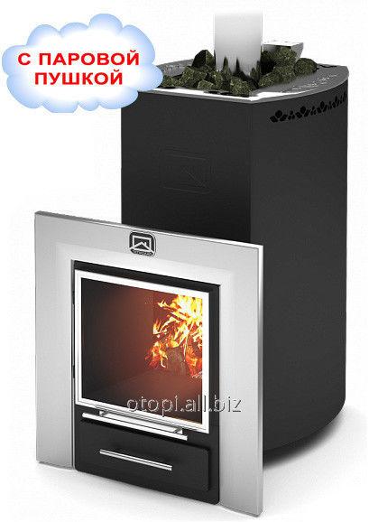 Дровяная печь для бани Печь Кубань Панорама 20Л производство Теплодар