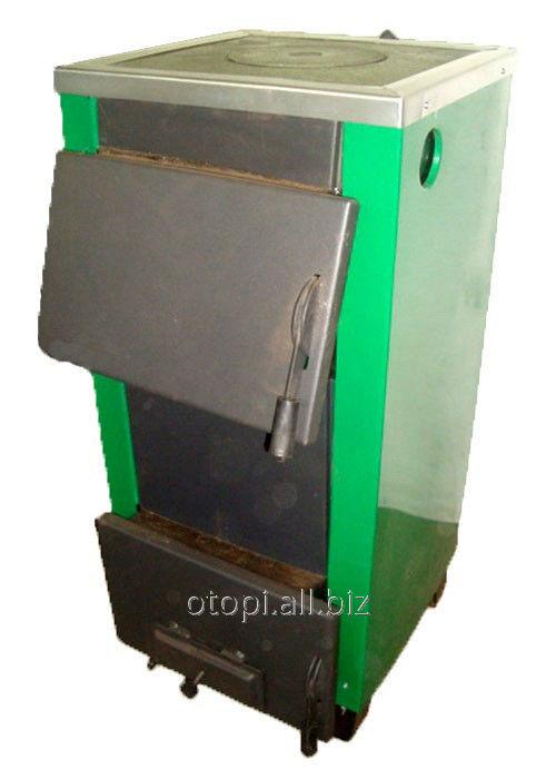 Одноконтурный твердотопливный котел с плитой КОТВ-20п