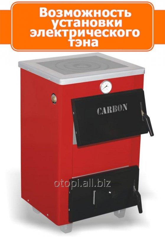 Твердотопливный котел водяной Карбон КСТО-14П New с плиткой