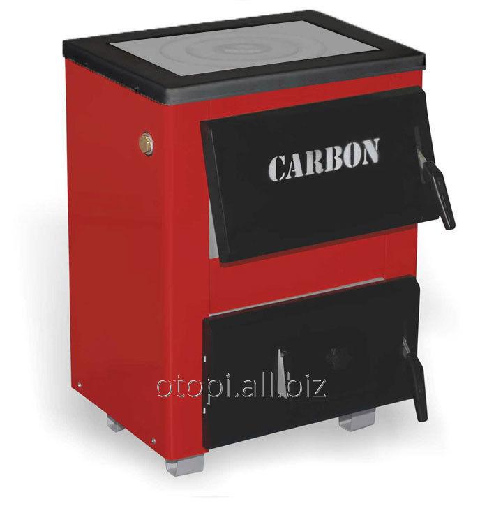 Котел на твердом топливе Carbon КСТО-10п  с плитой