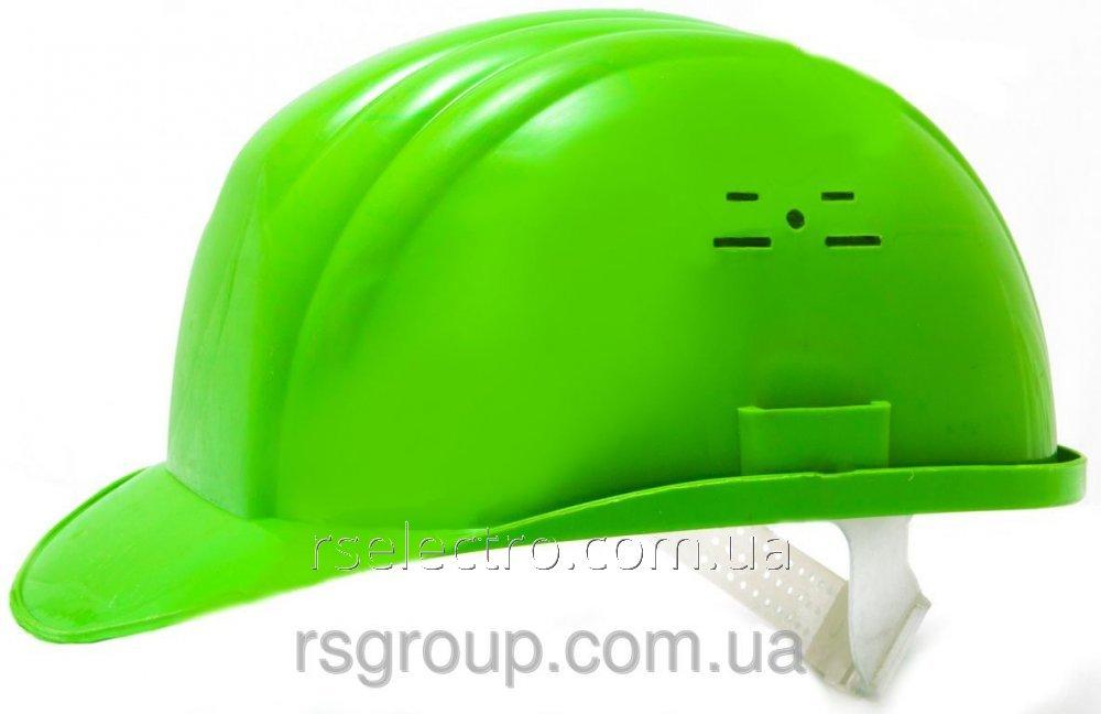 Каска строительная (цвет зелёный)