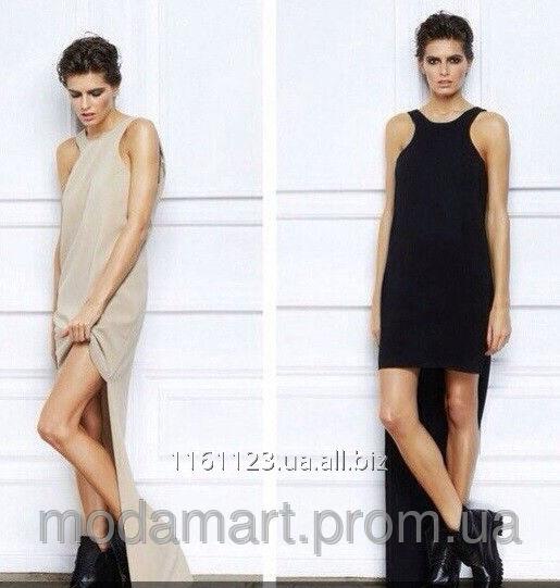 e8552cf771c Женское платье длинное сзади и короткое спереди Размер универсал AK 0510