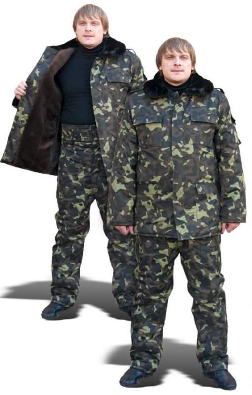 Бушлаты и куртки утеплённые камуфлированные