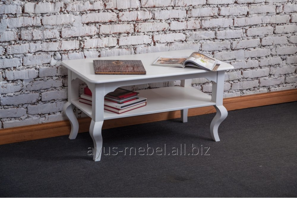 Купить Журнальный столик Камея из натурального дерева массив ольха