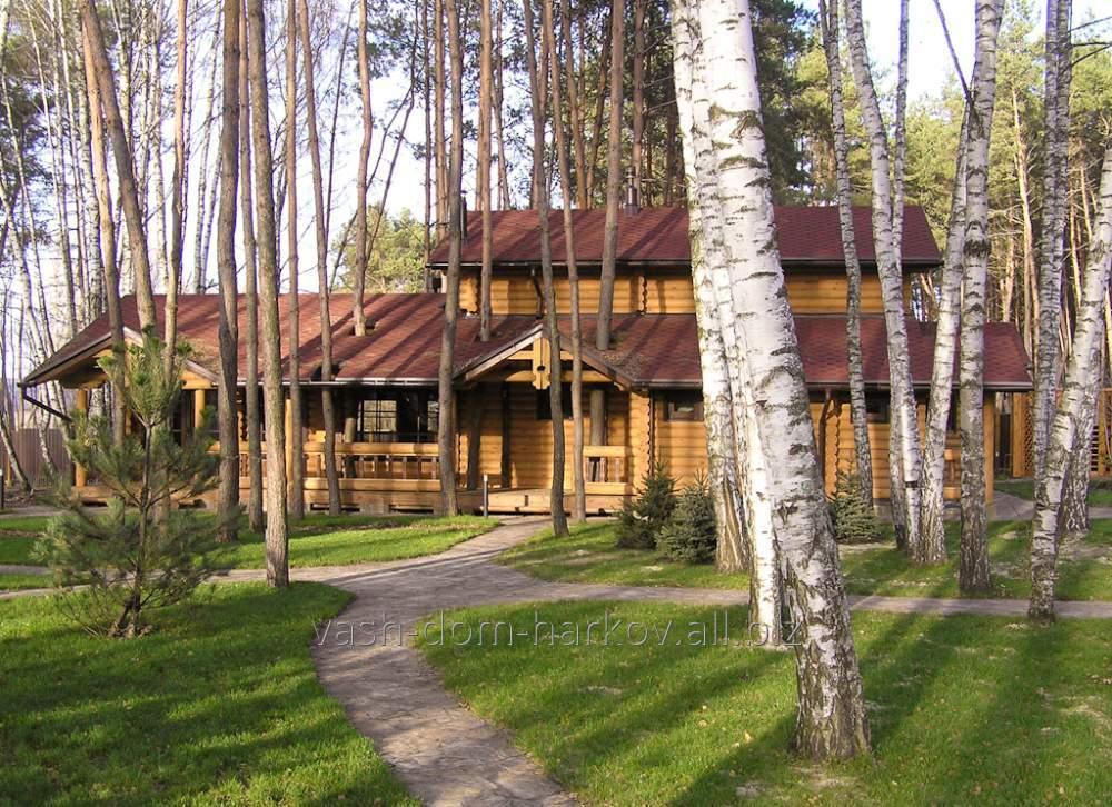 Дом деревянный из фрезерованного бревна