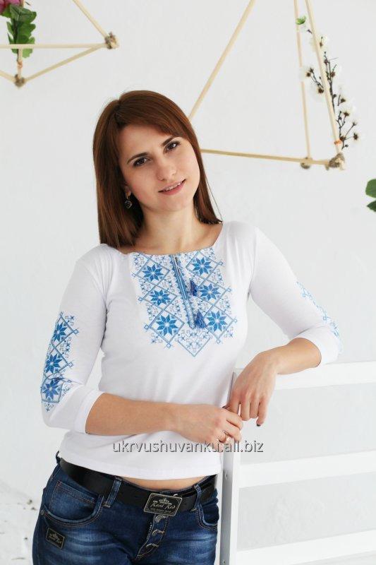 Вышитая женская Трикотажная футболка Два цвета