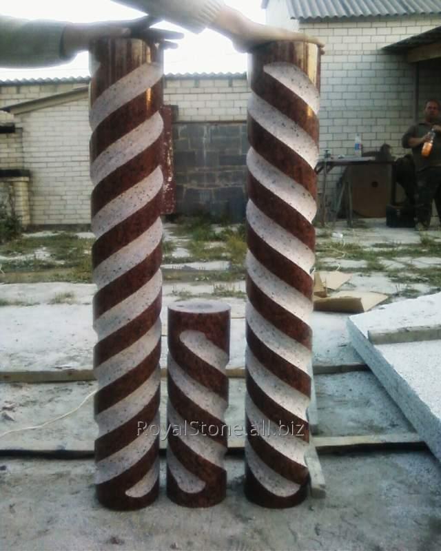 Сверхточная спиральная балясина из Лезниковского гранита