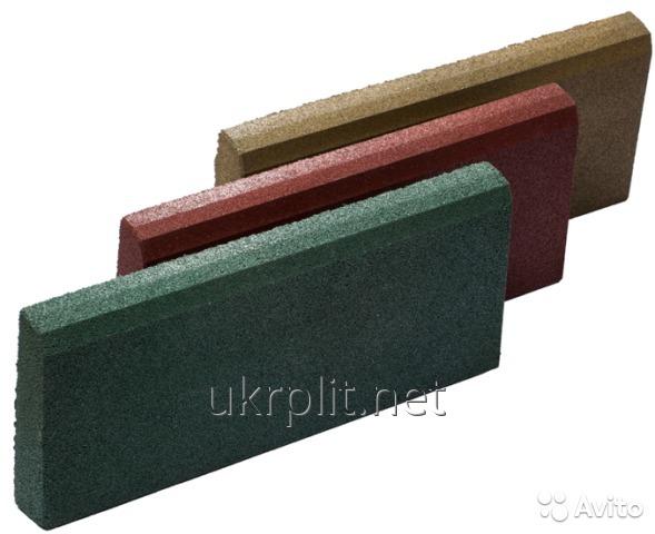 Бордюр из резиновой крошки от ТМ УкрПлит