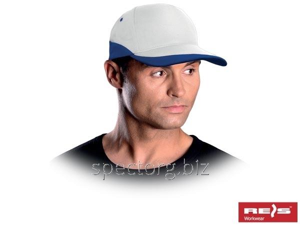 Бейсболка бело-голубая (кепка)