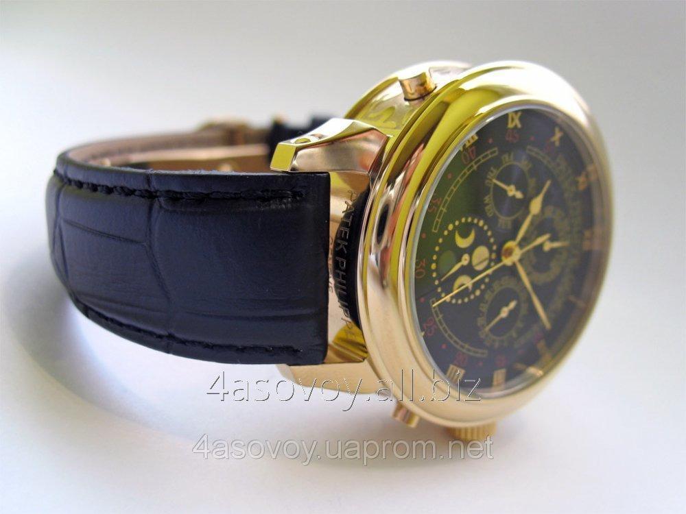 adff515c Мужские часы Patek Philippe - SKY MOON tourbillon на кожаном ремешке,  двухсторонни AAA 0475