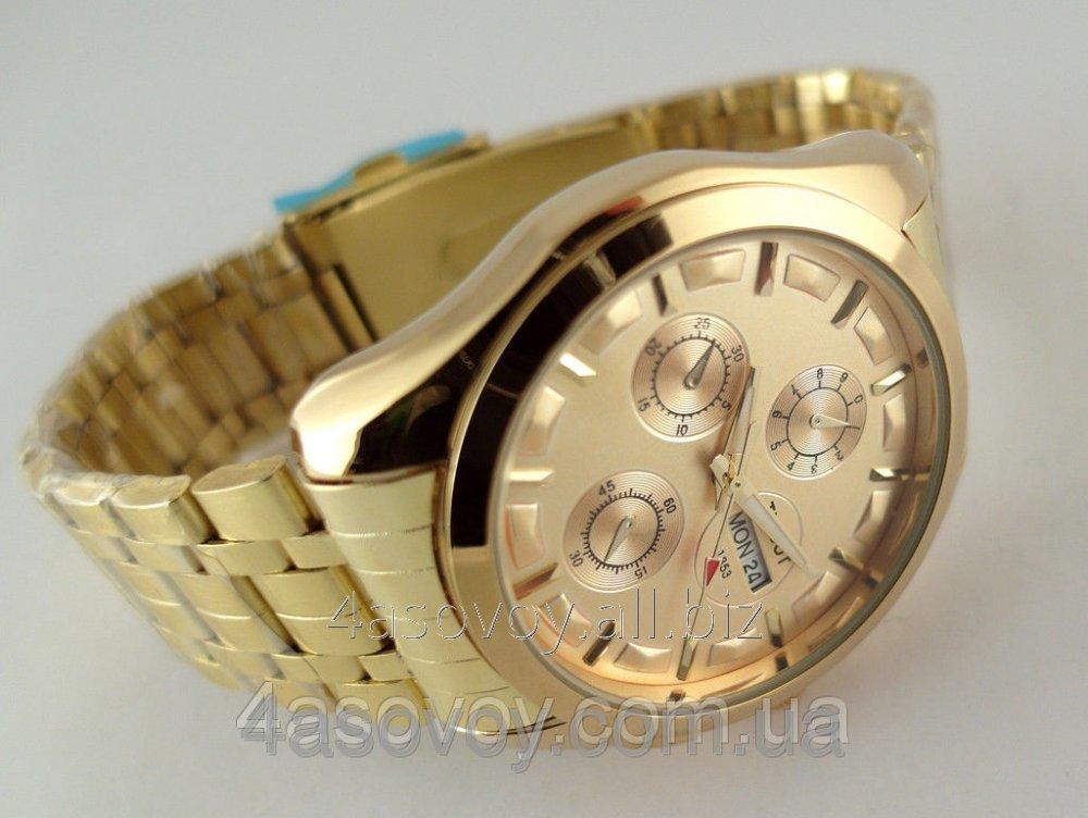 Золотые мужские наручные часы Тиссот