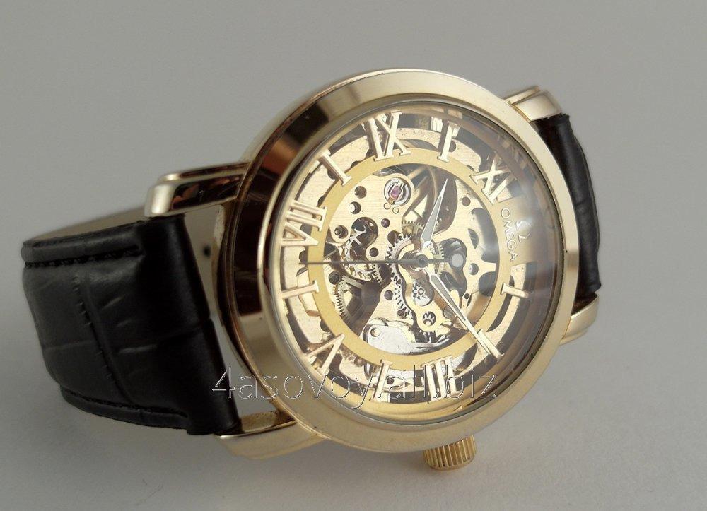 60359a598bff58 Мужские часы Omega skeleton, механика с автозаводом, золотой циферблат 0620