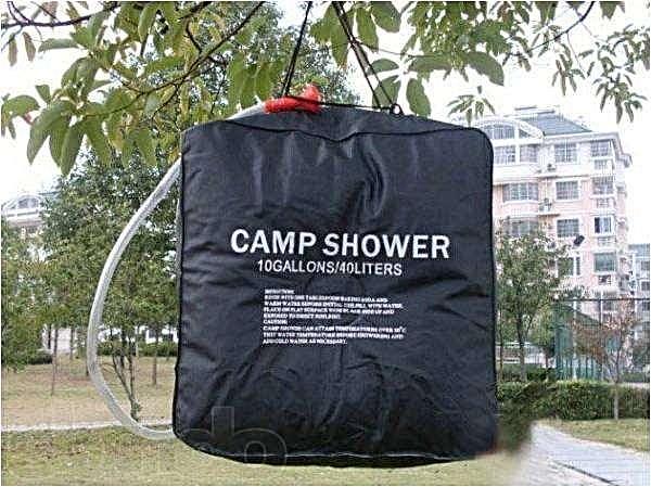 Купить Автономный душ для кемпинга, туризма на 40 л (нагрев от солнечной энергии)