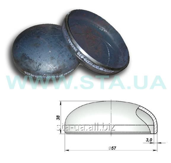 Заглушка стальная 57x3 мм ГОСТ 17379-01 штампованная