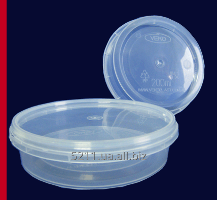 Buy Plastic tight packing for fish preserved food and salads. Non-standard plastic products