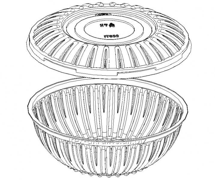 Упаковка для салатов IT-900б