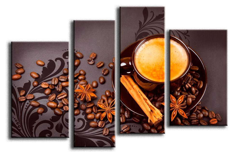 Модульная картина Кофе с корицей 221