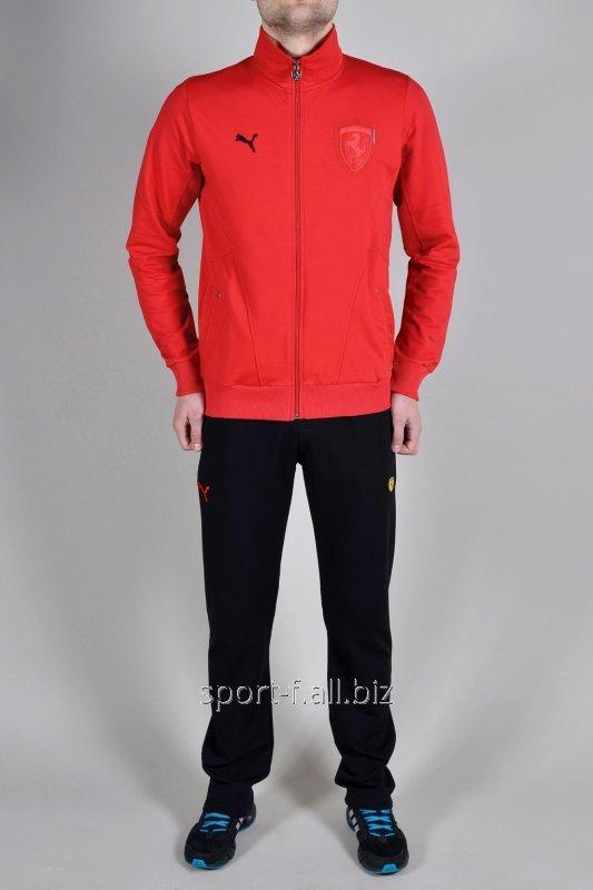 Спортивный костюм мужской Puma Ferrari  красно-черный