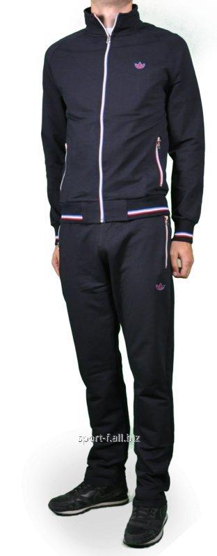 Спортивный костюм Adidas черный трикотаж