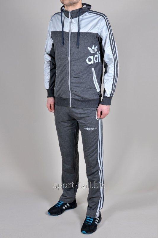 Спортивный костюм Adidas серый мужской