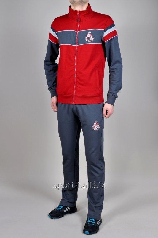 Спортивный костюм MXC серый с красным